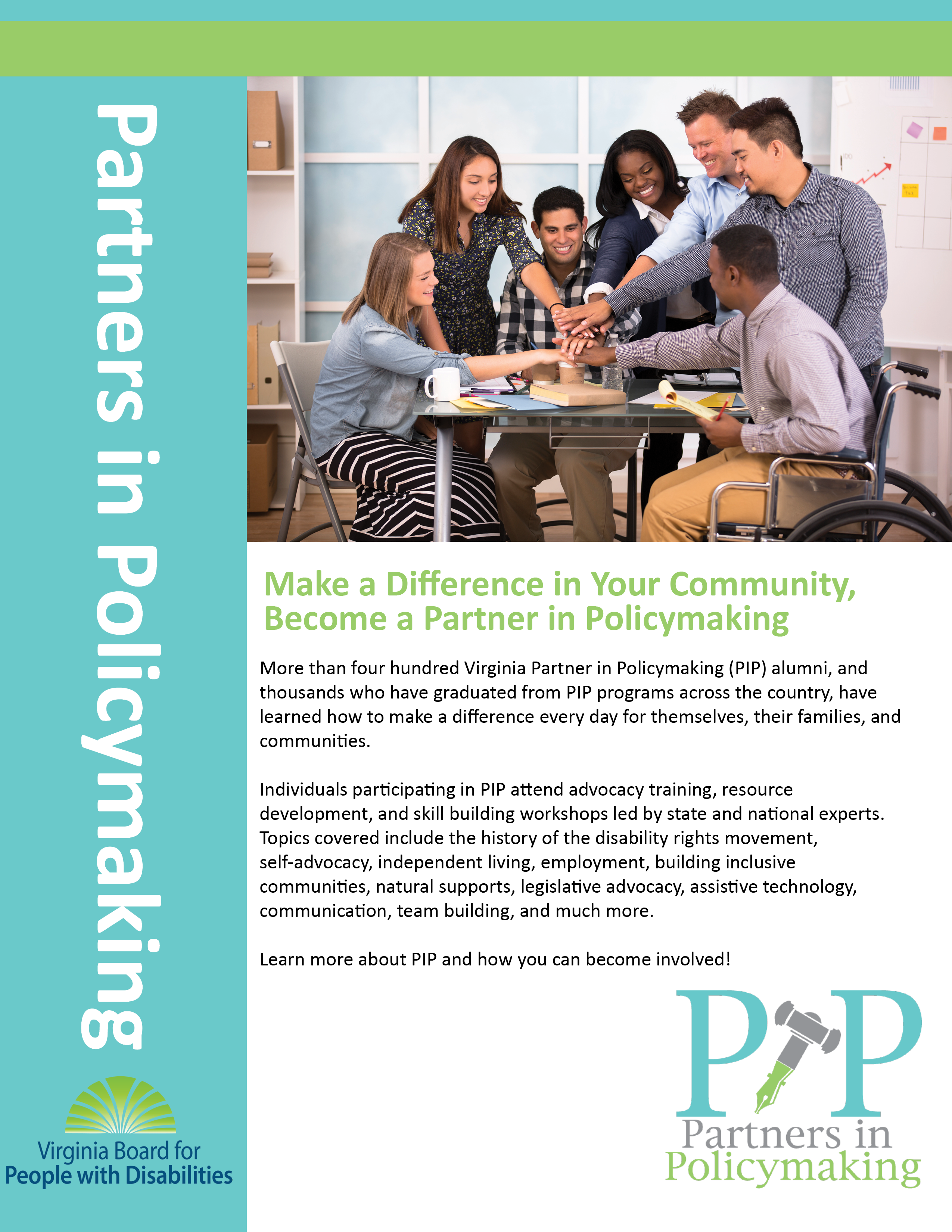 Partners in policymaking virginia board for people with disabilities partners in policy making flyer available as a pdf download on this site aiddatafo Gallery
